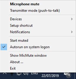 Push To Talk in Windows   Noise Blocker